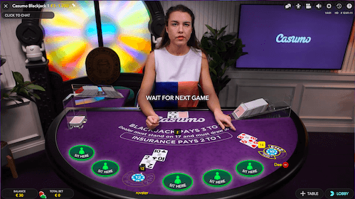 casumo live blackjack 1