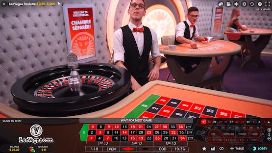 Leo Vegas Private Live Roulette Table