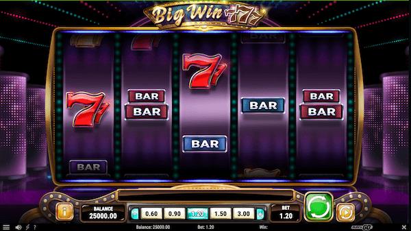 big win 777 slot reel view